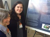 Student at a poster presentation